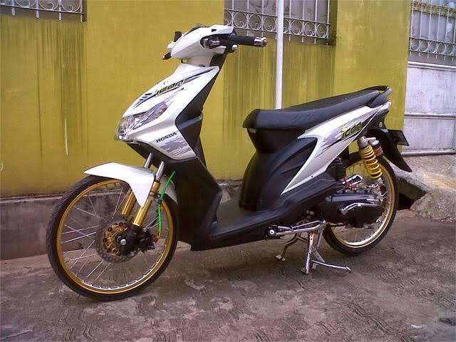 Modifikasi Honda Beat Velg Jari Jari