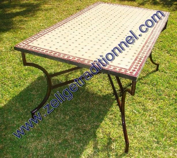 zellige table en mosaique traditionnel marocaine table d 39 int rieur ou d. Black Bedroom Furniture Sets. Home Design Ideas