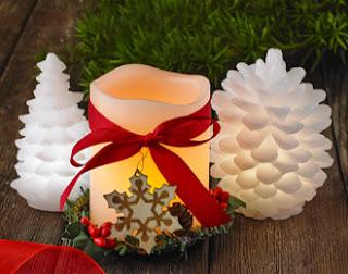 Świeczka świąteczna LED z Biedronki