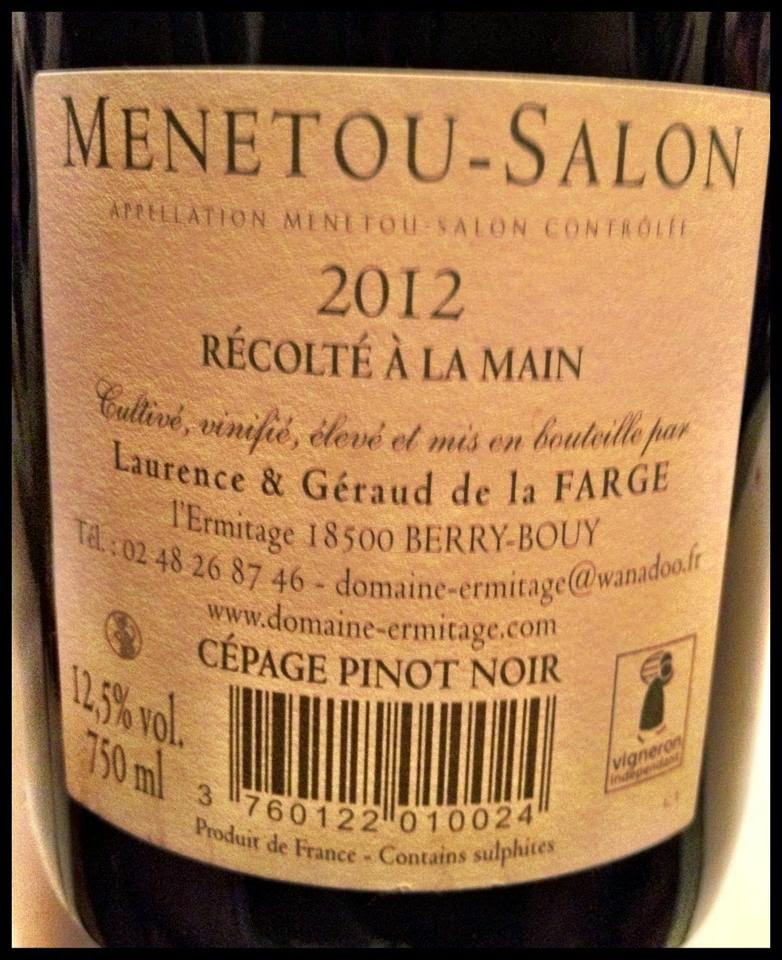 El alma del vino domaine de l ermitage menetou salon for Menetou salon 2012