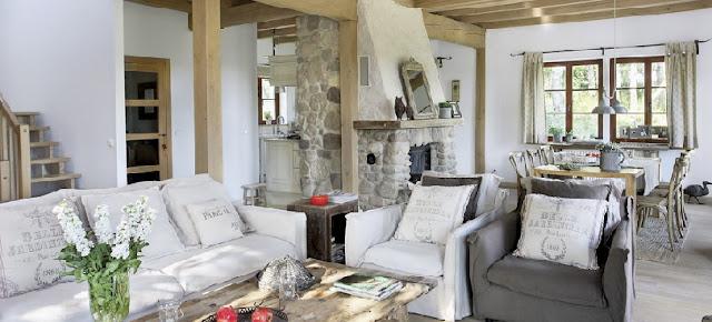 Home refugio con mix de piezas vintage y entorno for Living estilo romantico