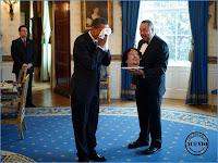 I Have a Dream Funny photo Barack Obama and Muammar Gaddafi