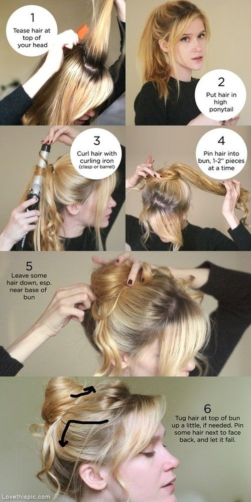 Bun Hairstyles: Bun hairstyles step by step