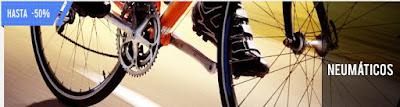 Descuento 50% en gomas de bicicleta