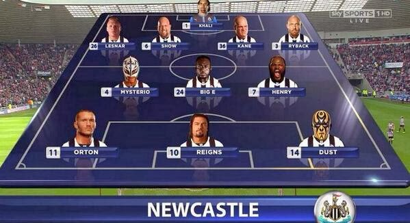 Vince McMahon, Newcastle, WWE, starting XI,
