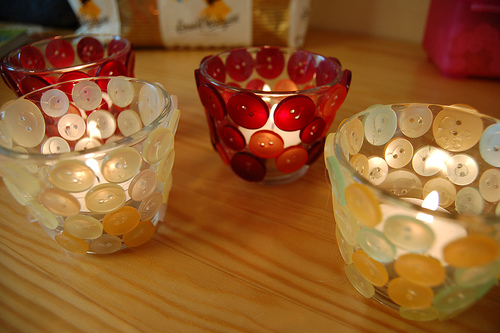 porta velas personalizados com potinhos de vidros