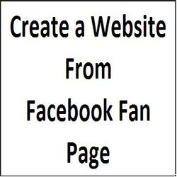 create free website from facebook page