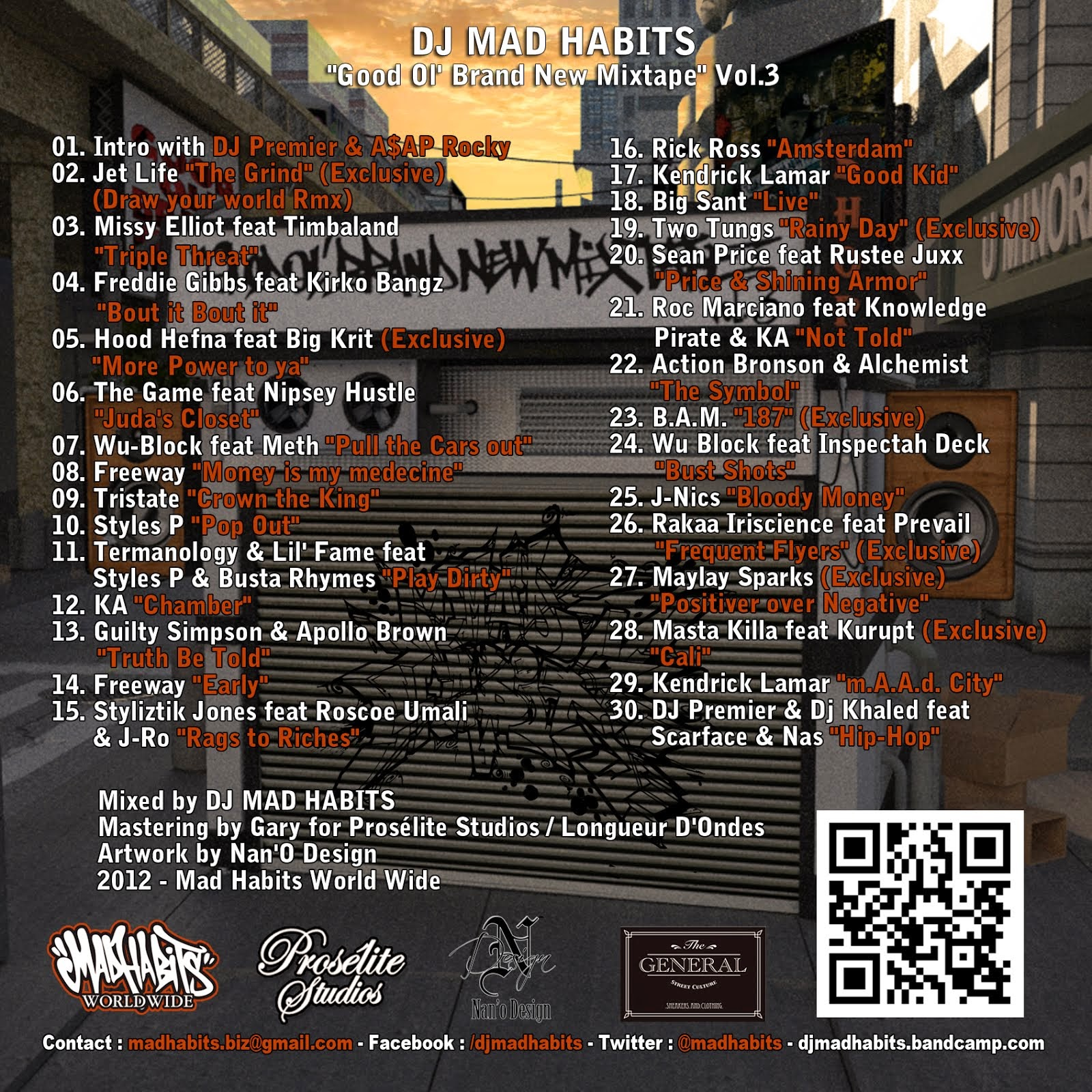 back cd cover / jaquette arriere de la mixtape