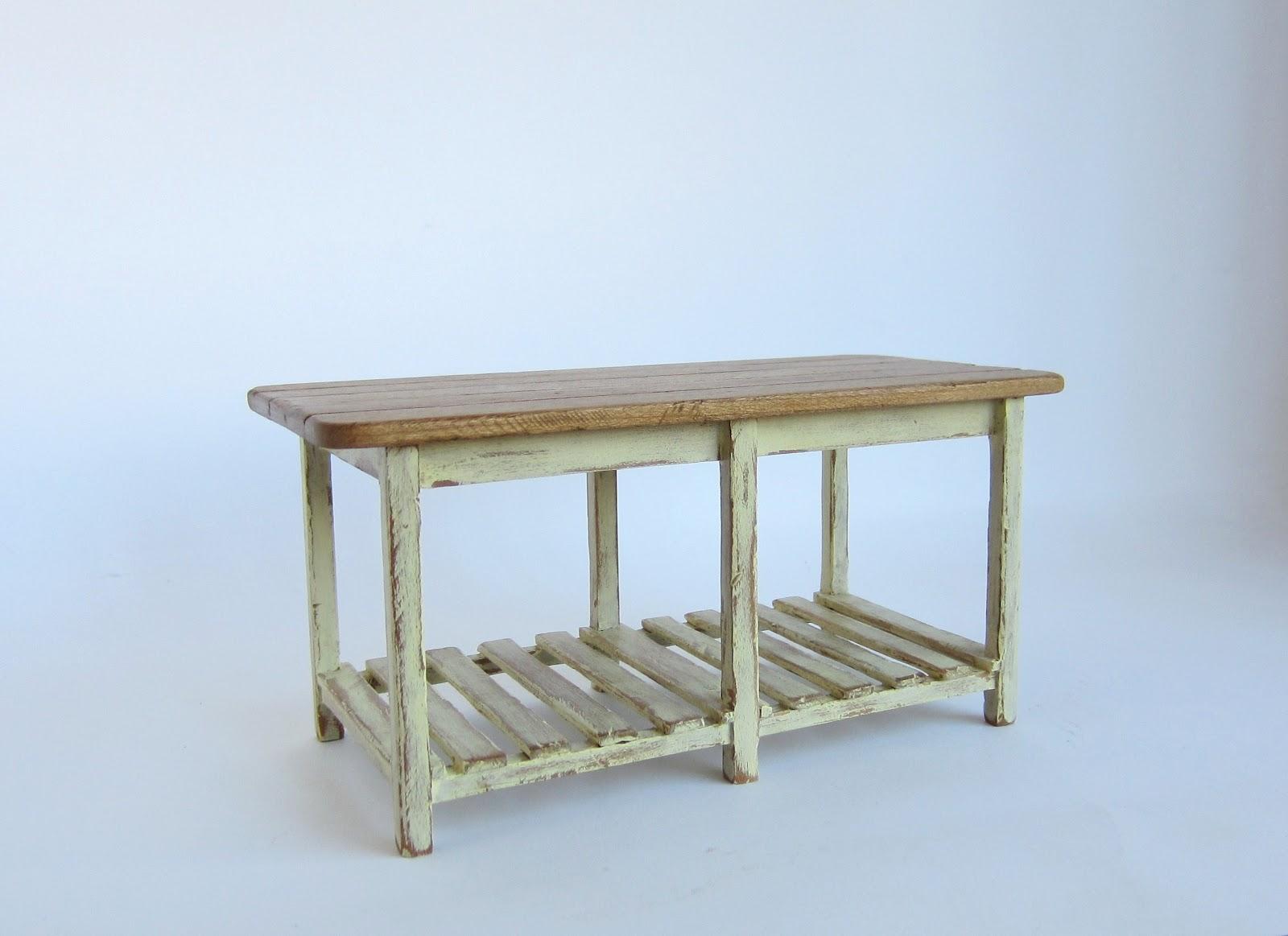 Muebles en miniatura miniature furniture mueble para cocina - Mesa de trabajo cocina ...