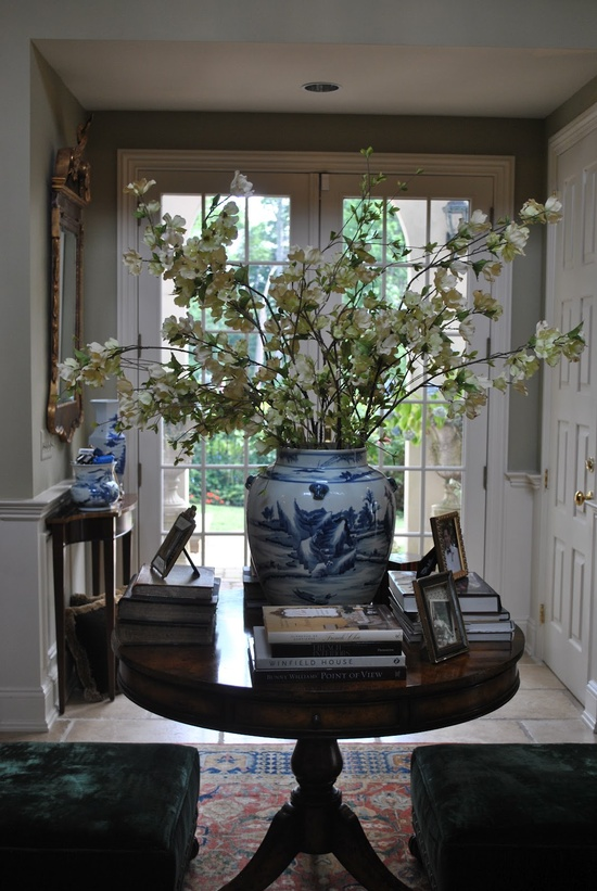 Foyer Entrance Exam : Calling all blue and white lovers home interior design