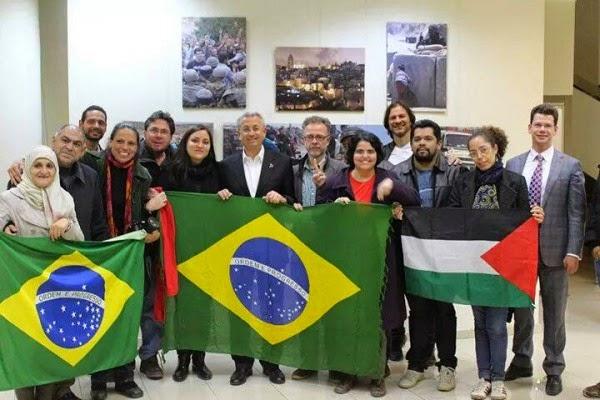 Brasileiros com Mustafa Barghouti na Palestina