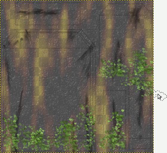 Pincél com folhas do GIMP