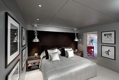 habitación en color plata