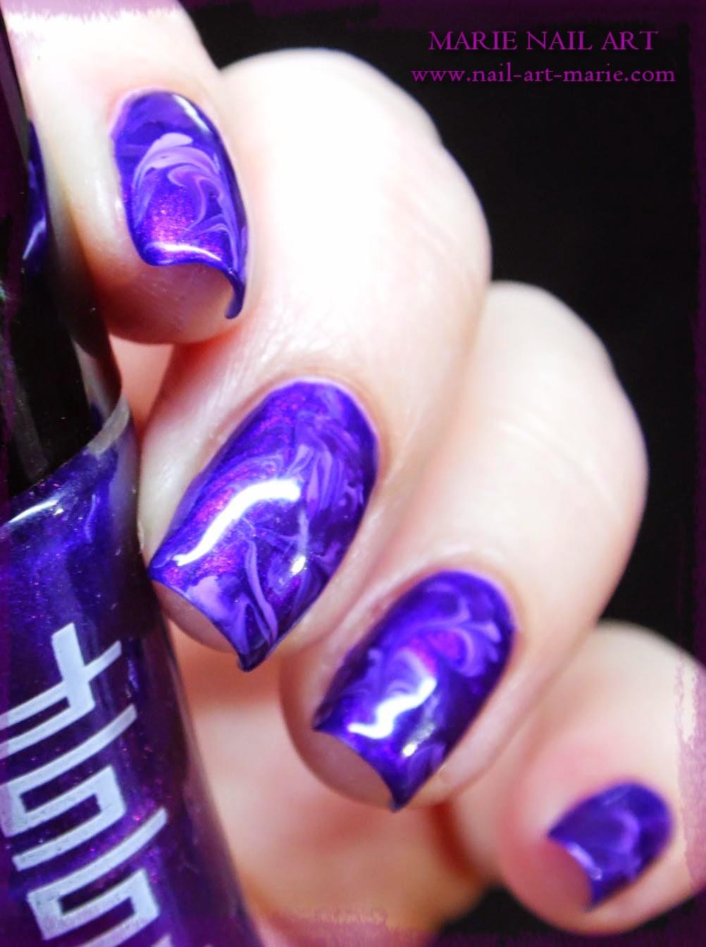 nail art effet améthyste8