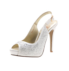 peep-toed mrs diamond bridal wedding ivory platform heels