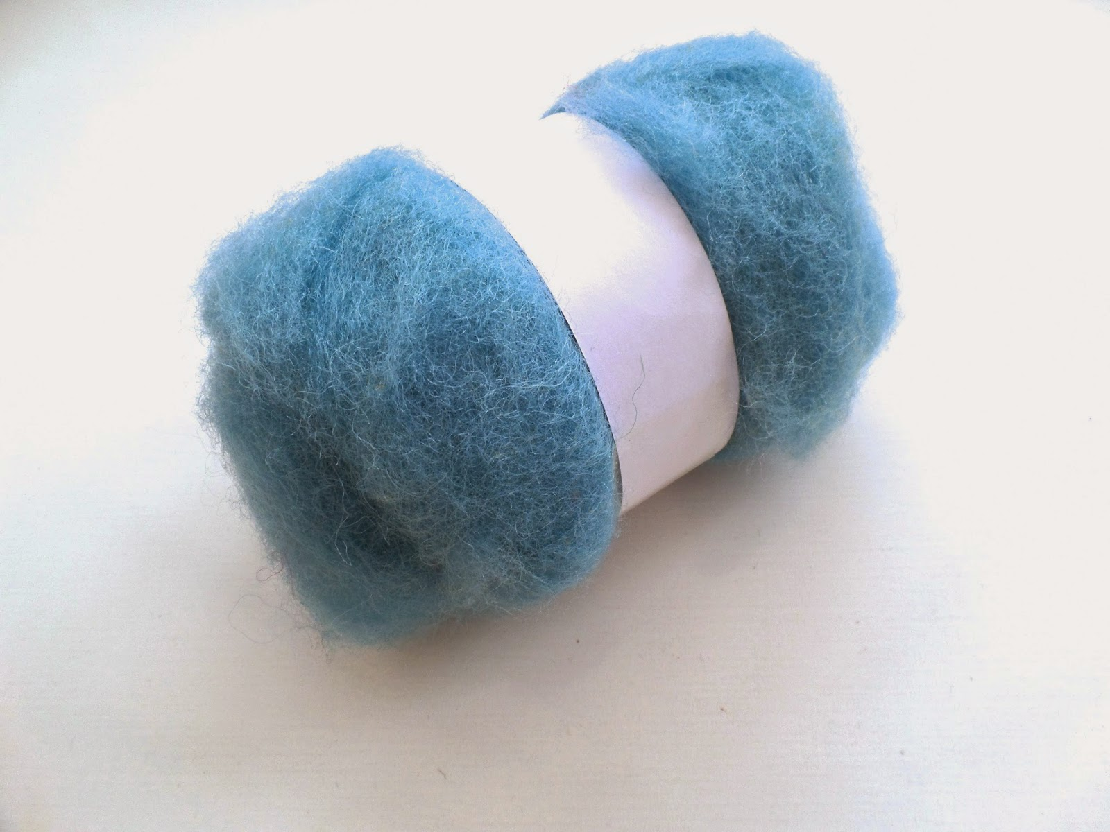blue felting fibre