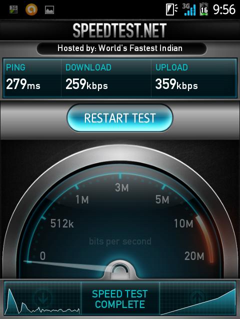 IIJmio 高速モバイル/D 通信速度改定前の実測値