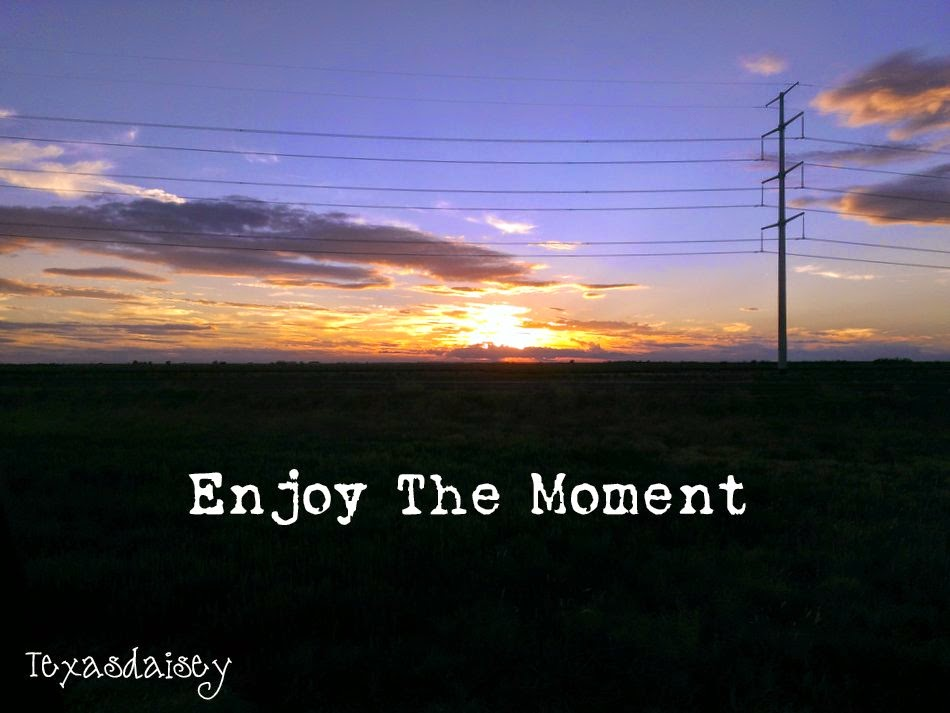 Learn to enjoy the moment