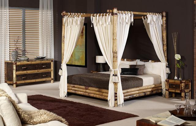 Decorar los Interiores con Bambú by artesydisenos.blogspot.com