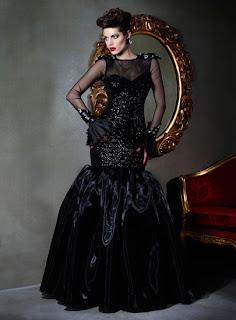 siyah uzun abiye modeli