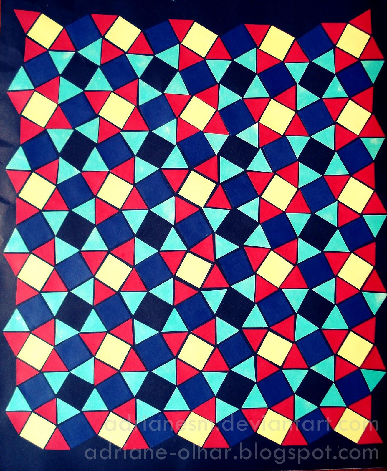 olhar adriane mascotti mosaico geométrico colagem