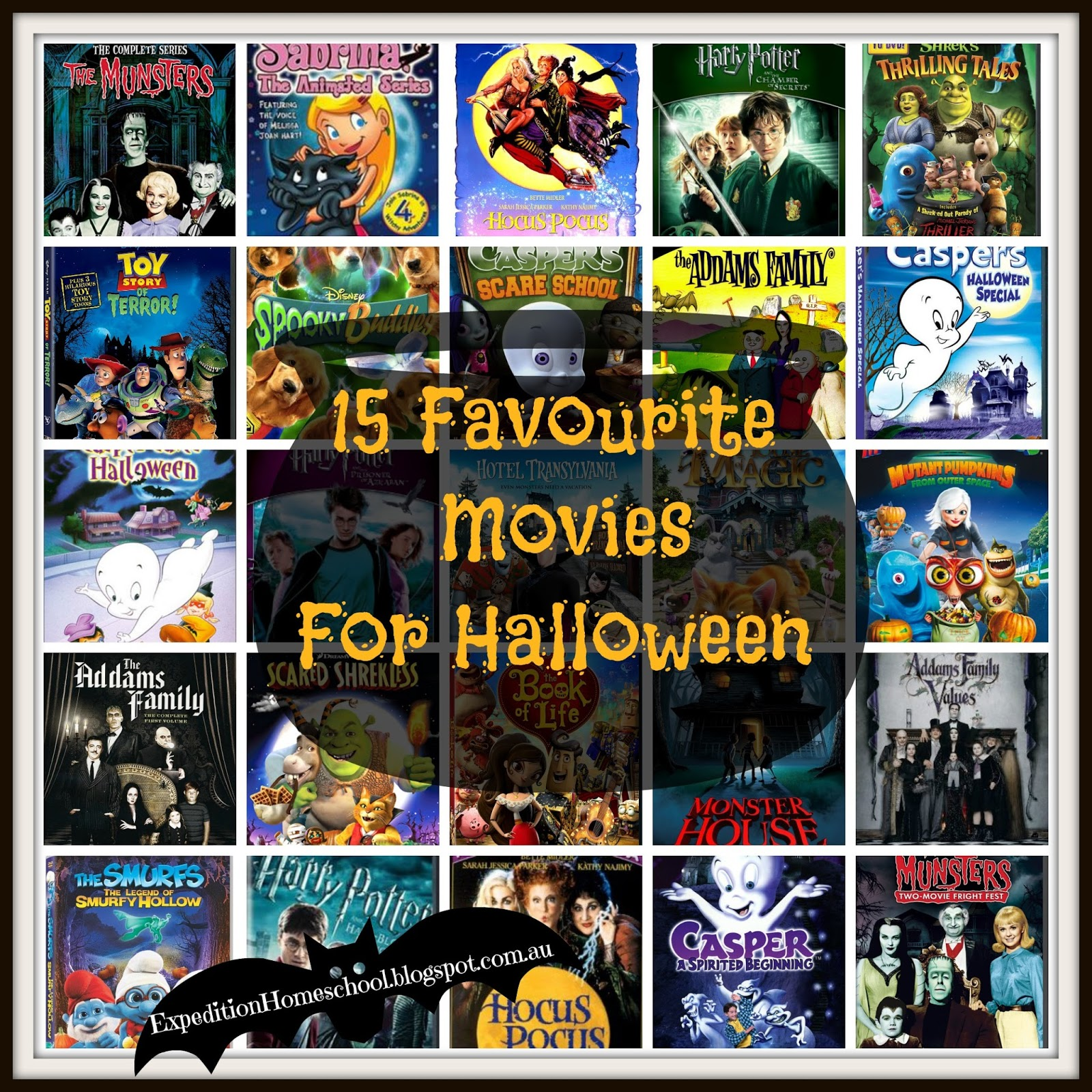 expedition homeschool: 15 halloween movie favourites for kids