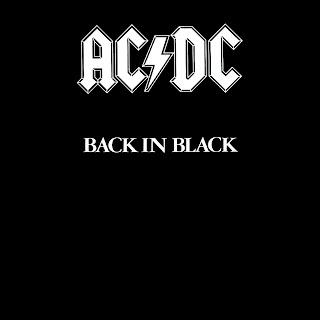 AC DC Back in Black Cover HD Wallpaper