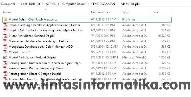 Download Modul Belajar Pemrograman Delphi Lengkap