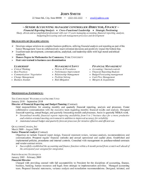 Accounting Manager Resume Templates4