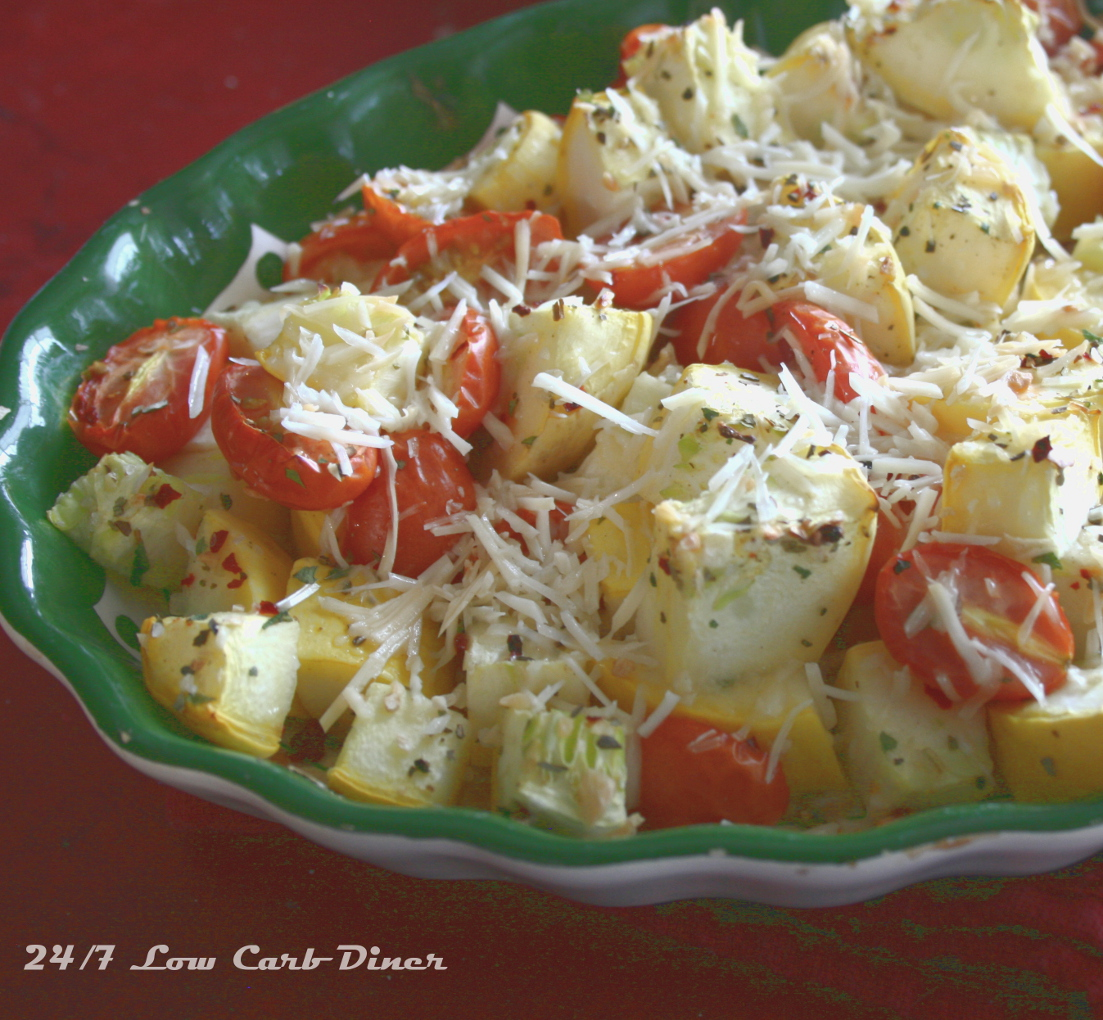 ... Summer Casserole - Yellow Squash, Tomatoes, Herbs and Parmesan