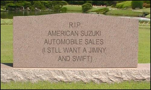 American Suzuki Tombstone