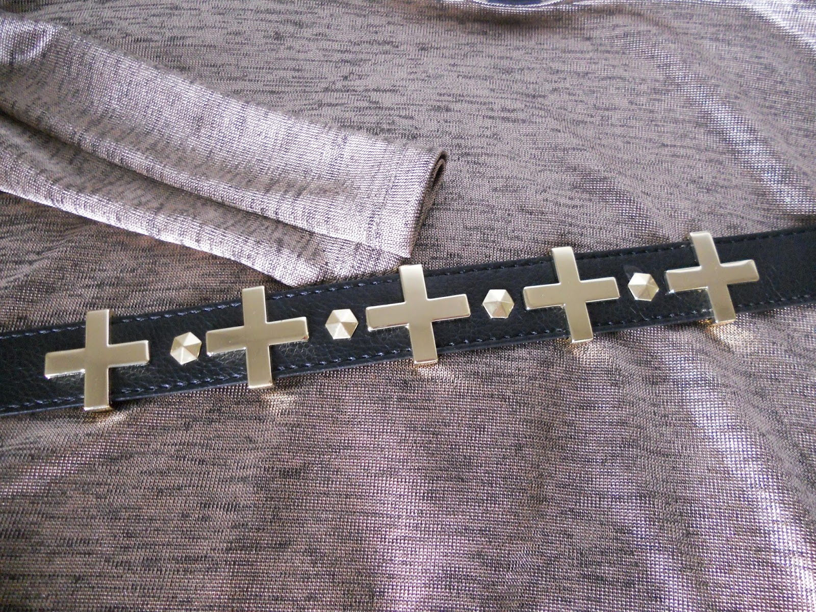 black and gold handm belt, plus sign belt, silky tunic