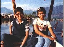 little Aishwarya rai  & her brother in little time