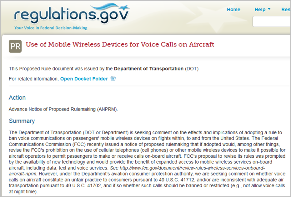 http://www.regulations.gov/#!documentDetail;D=DOT-OST-2014-0002-0018