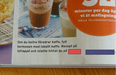"""Recept med textrutan: """"Om du hellre föredrar kaffe, fyll termosen [...]"""" foto: Reb Dutius"""
