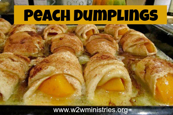 #recipe for #peach #dumplings