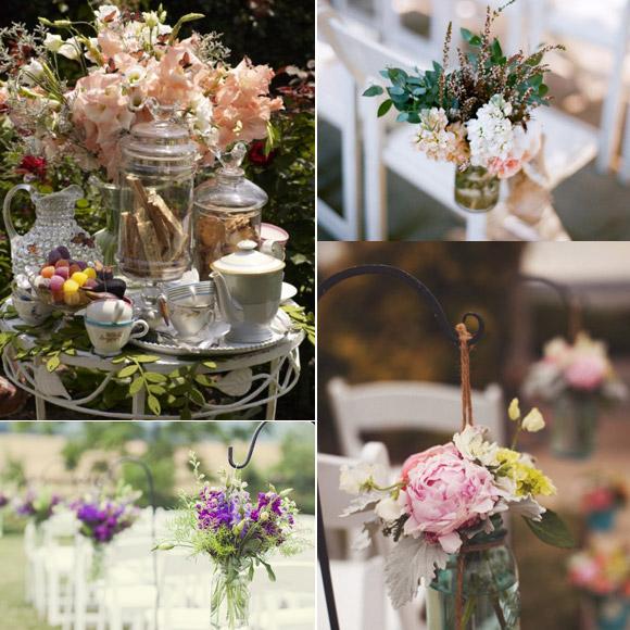 Bodas online decoraci n de las sillas para bodas en jard n for Adornos boda jardin