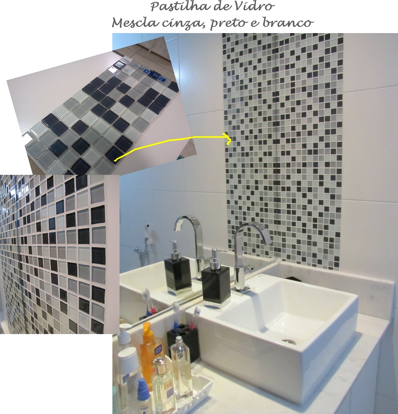 No banheiro do casal (o nosso) usamos a mesma tática e encostamos a  #A66F25 1275x1326 Banheiro Com Pastilha Vertical