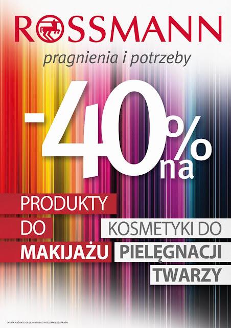 Zakupy - Rossmann rozpieszcza ( -40% ) i nie tylko
