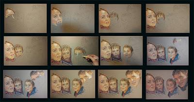 Fotogramas  Paso a paso del proceso de un retrato familiar