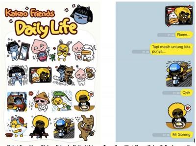 Emoticon 'Kakao Friends Daily Life' Tersedia di KakaoTalk