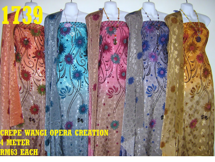 CW 1739: CREPE WANGI OPERA CREATION, 4 METER, 5 COLORS