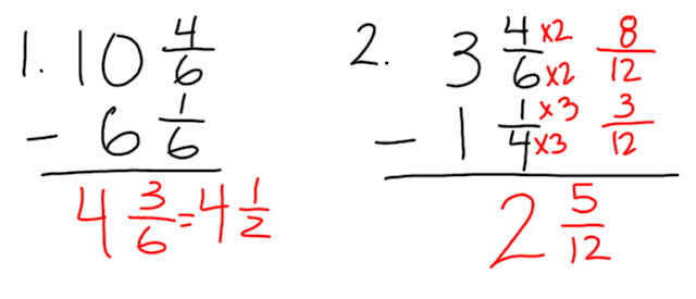 Subtract Mixed Numbers Worksheet Adding and subtracting mixed