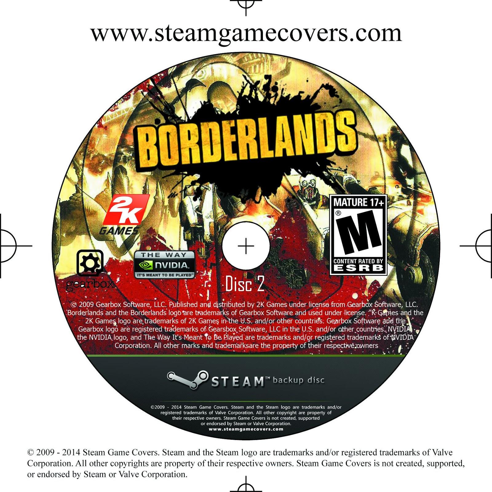 Label Borderlands Disc 2 PC
