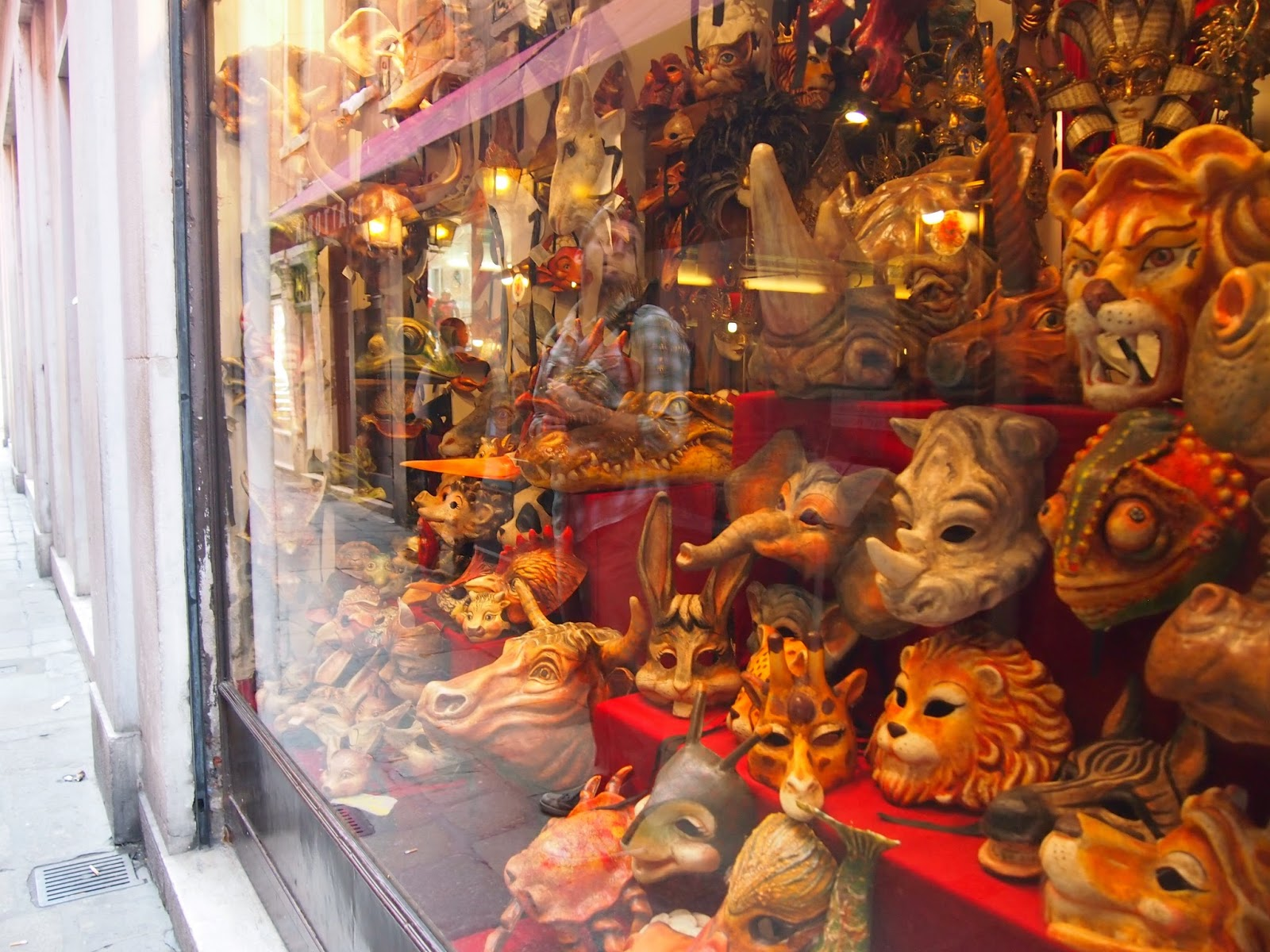 colorful animal masks in Venice, Italy