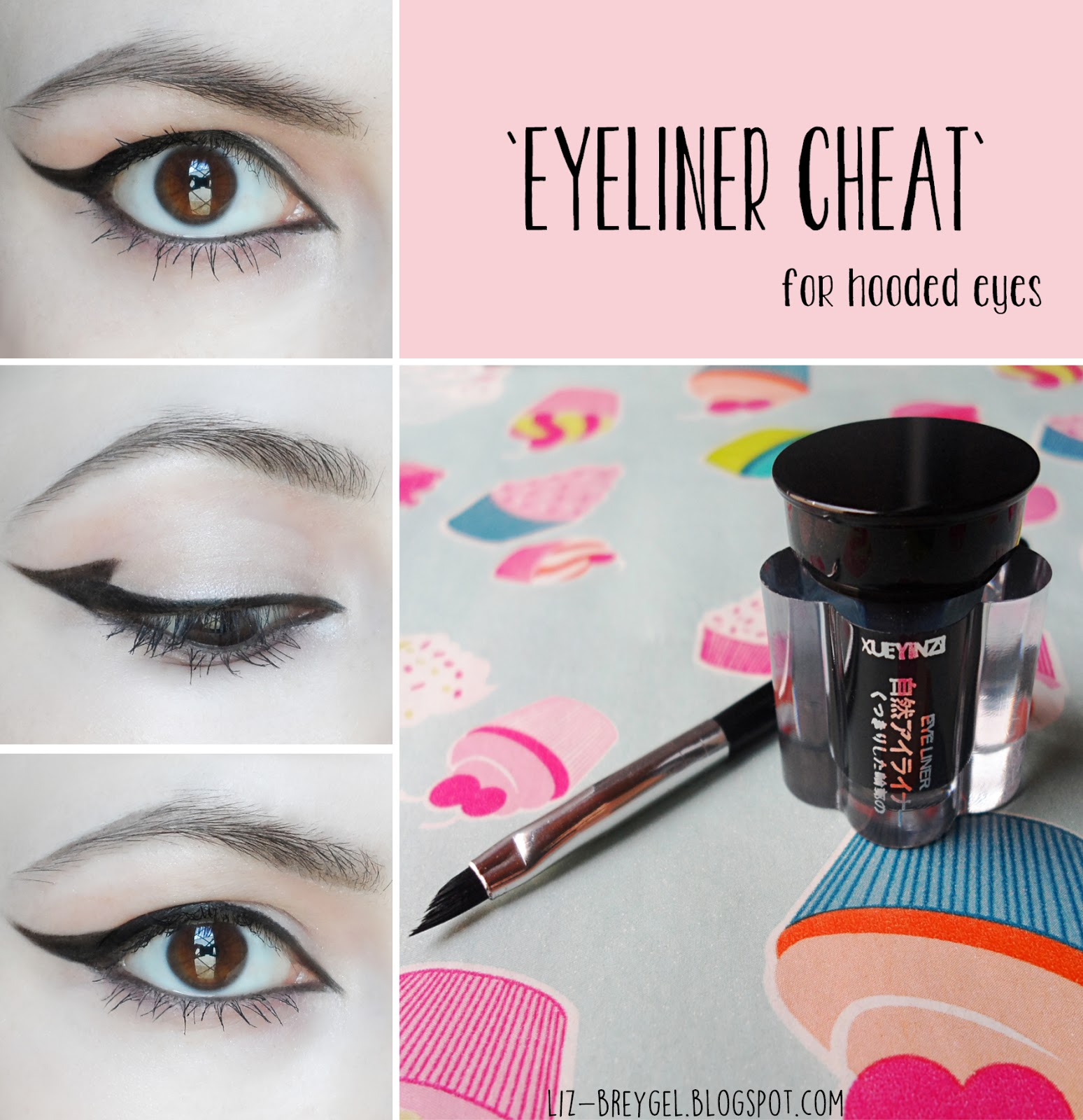 makeup for hooded eye lids blogger step by step tutorial winged eyeliner for small eyes hooded liz breygel