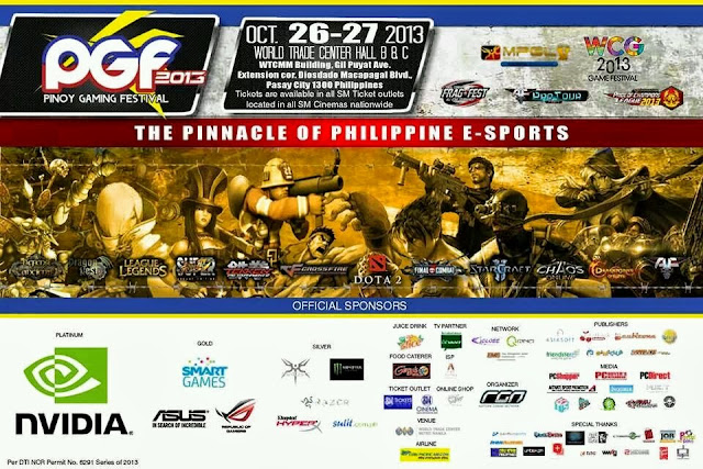 Pinoy Gaming Festival 2013 World Trade Center October 26-27