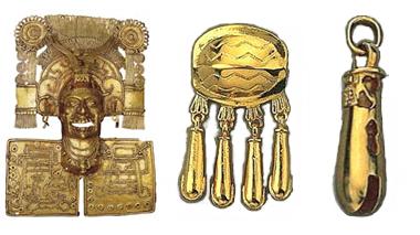 Aretes de oro Tumba 7