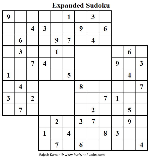 Expanded Sudoku (Fun With Sudoku #51)