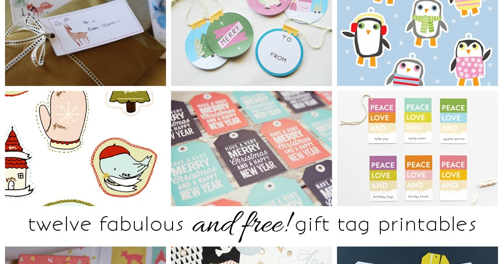 imagine gnats: round-up: free printable gift tags